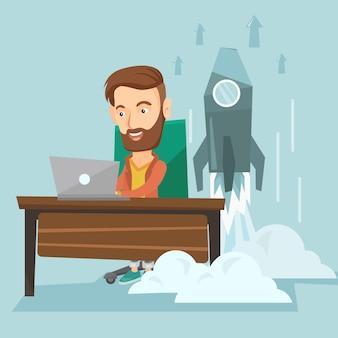 Illustration de démarrage d'entreprise.