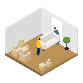 Illustration de déménagement