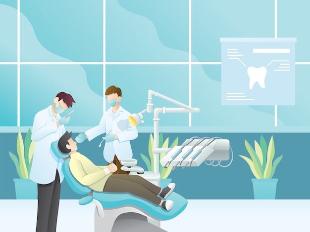 Illustration de dentiste