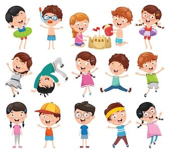Illustration des enfants de dessin animé