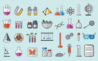 Illustration des instruments de laboratoire de chimie