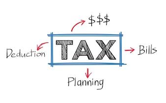 Illustration des taxes et des factures