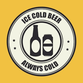 Illustration design bière jaune