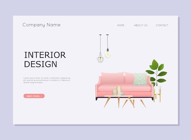Illustration de design d'intérieur
