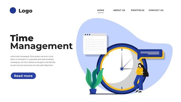 Illustration de design plat moderne de gestion du temps.