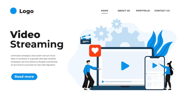 Illustration de design plat moderne de streaming vidéo.
