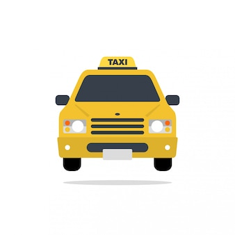 Illustration de design plat vecteur voiture taxi