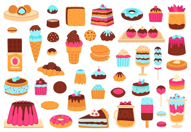 Illustration de desserts sucrés