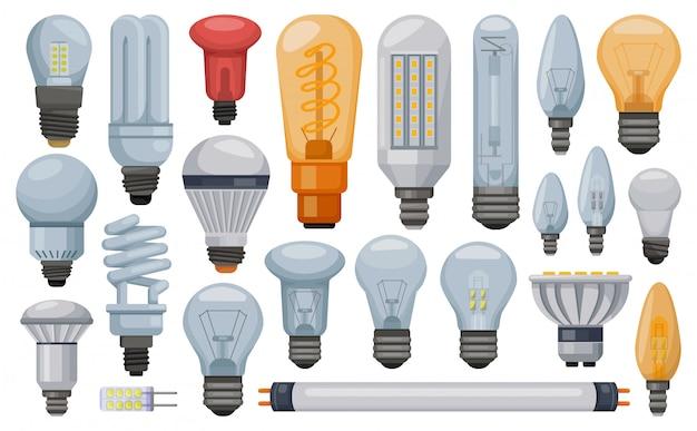 Illustration de dessin animé d'ampoule sur blanc