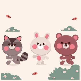 Illustration de dessin animé animal mignon