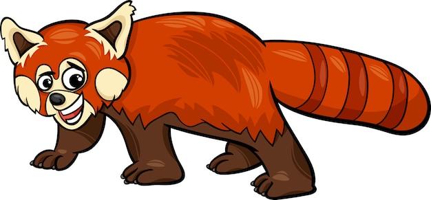 Illustration de dessin animé animal panda rouge