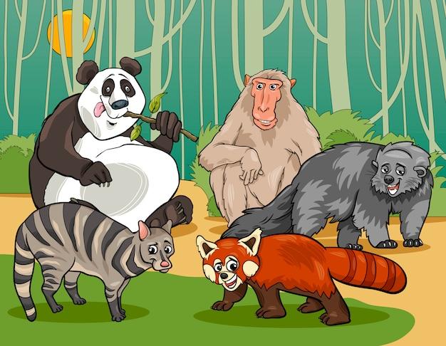 Illustration de dessin animé animaux mammifères