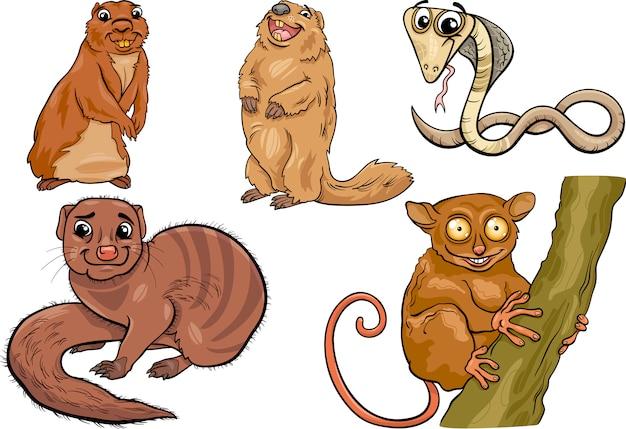 Illustration de dessin animé animaux sauvages