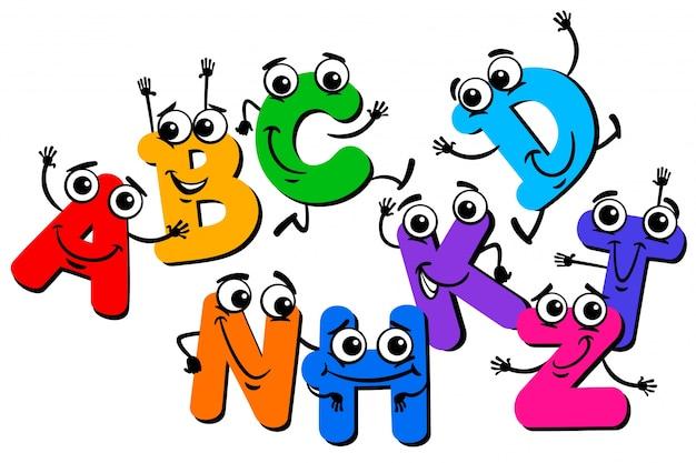 Illustration de dessin animé de caractères lettre drôle