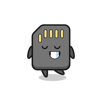 Illustration de dessin animé de carte sd avec une expression timide, design de style mignon pour t-shirt, autocollant, élément de logo