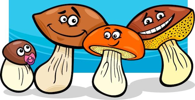 Illustration de dessin animé de champignons