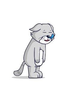 Illustration de dessin animé de chat endormi
