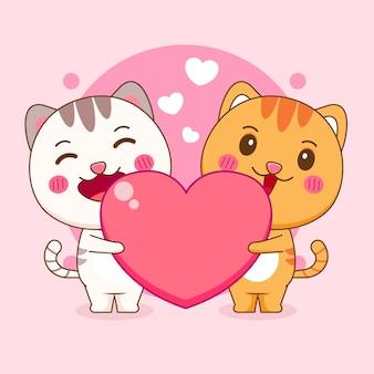 Illustration de dessin animé de chat mignon