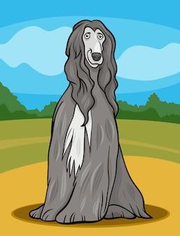 Illustration de dessin animé chien afghan hound
