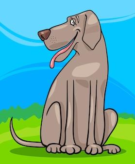 Illustration de dessin animé chien grand danois