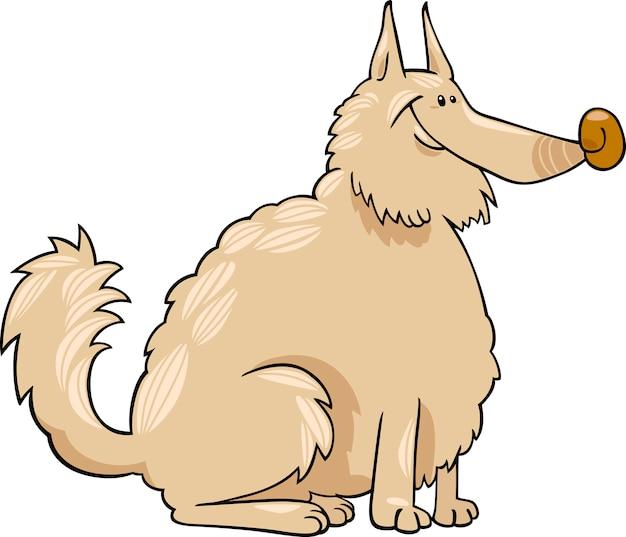 Illustration de dessin animé de chien spitz