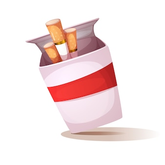Illustration de dessin animé cigarette