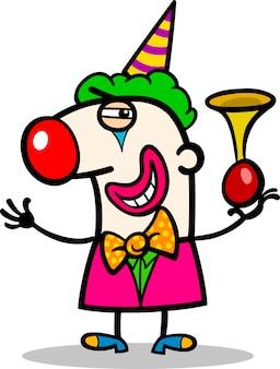 Illustration de dessin animé de clown interprète
