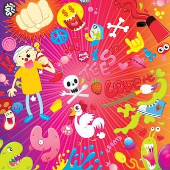 Illustration de dessin animé coloré