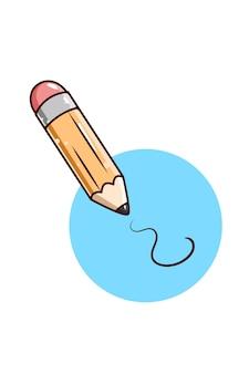 Illustration de dessin animé de crayon icône