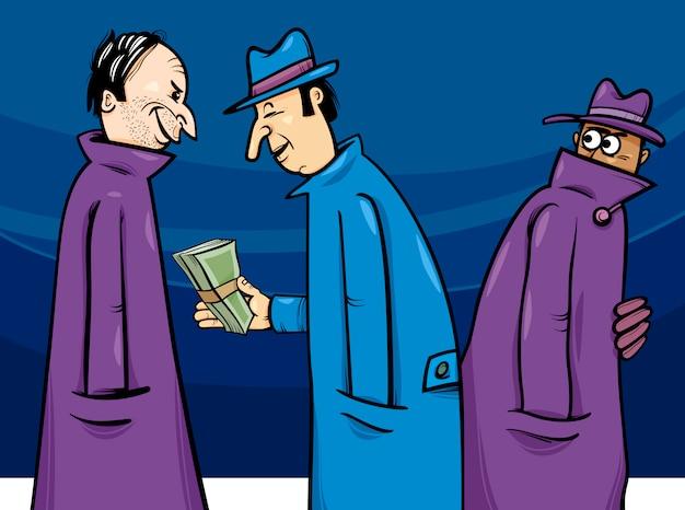 Illustration de dessin animé de crime ou de corruption