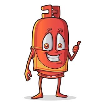 Illustration de dessin animé de cylindre mignon.