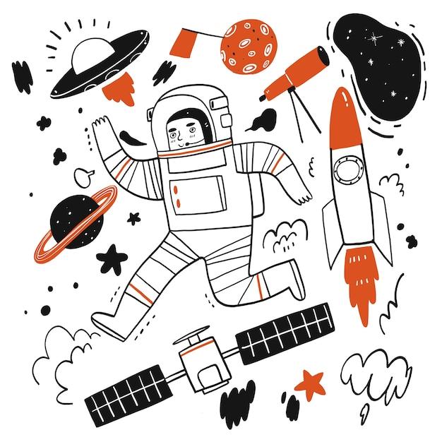 Illustration de dessin animé dessiné à la main