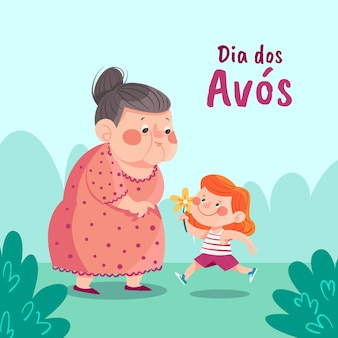 Illustration de dessin animé dia dos avos
