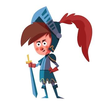 Illustration de dessin animé diada de sant jordi avec chevalier