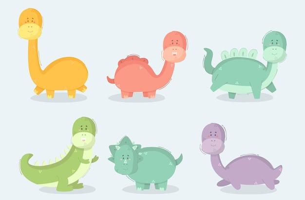 Illustration de dessin animé de dinosaure