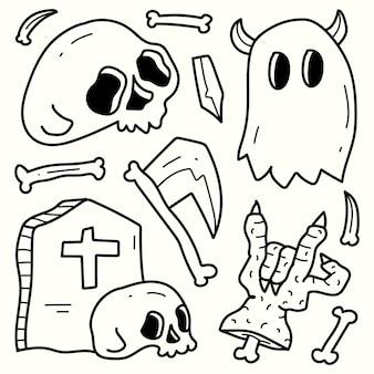 Illustration de dessin animé doodle halloween dessiné à la main