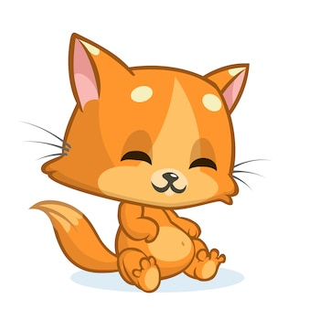 Illustration de dessin animé drôle de chat