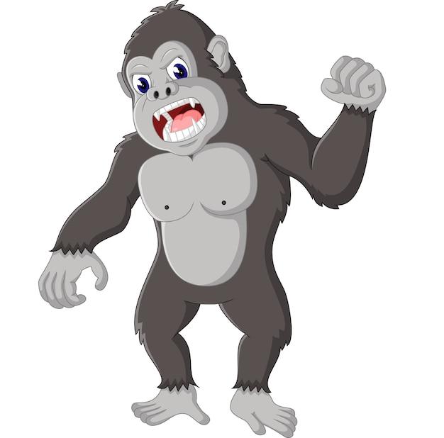 Illustration de dessin animé drôle de gorille