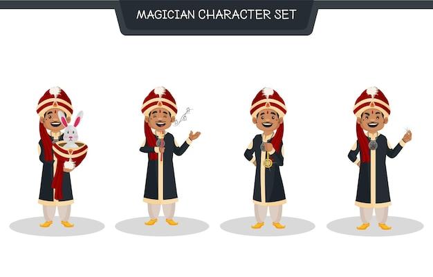 Illustration de dessin animé du jeu de caractères magicien
