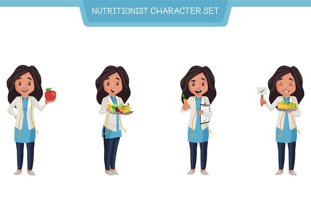 Illustration de dessin animé du jeu de caractères nutritionniste