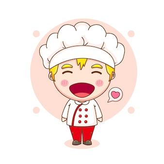 Illustration de dessin animé du personnage de chef mignon