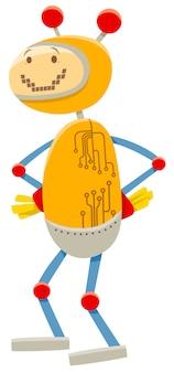Illustration de dessin animé du personnage de robot drôle
