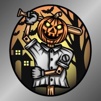 Illustration de dessin animé effrayant halloween.