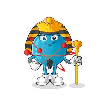 Illustration de dessin animé de l'egypte ancienne de l'atome