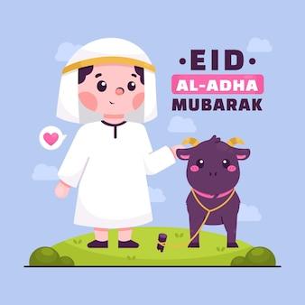 Illustration de dessin animé eid al-adha