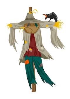 Illustration de dessin animé d'un épouvantail