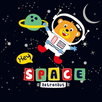 Illustration de dessin animé de l & # 39; espace