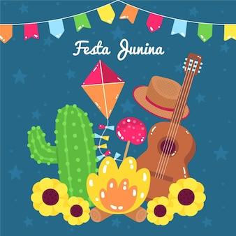 Illustration de dessin animé festa junina
