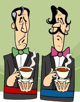 Illustration de dessin animé de gentlemen digne