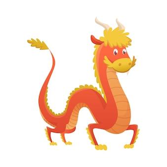 Illustration de dessin animé japon ou chine dragon